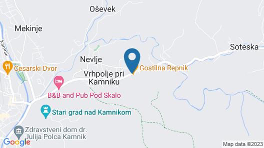Guest House Repnik Map