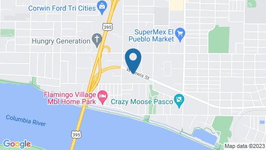 Tahitian Motor Inn Map