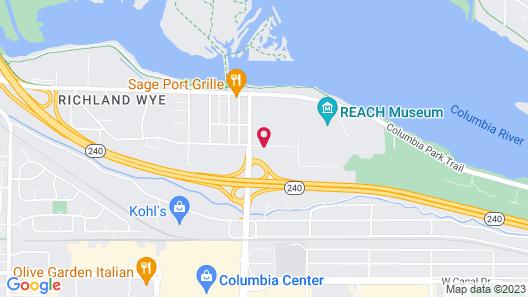 Motel 6 Richland, WA - Kennewick Map