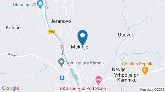 Hostel Javni Zavod Mekinjski Samostan Map