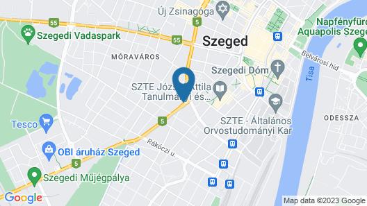 Vén Diófa De Lux Panzió Map