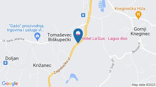 Hotel LaGus Map