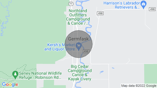 Gateway to Pictured Rocks Lodge: Germfask. Centrally Located in Eastern UP! Map