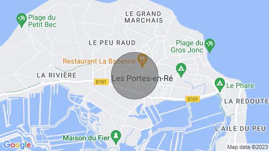 Les Portes-en-re Villa, Sleeps 8 Map