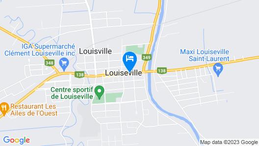Le 100 St-Laurent Map