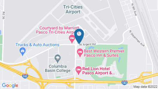 Courtyard by Marriott Pasco Tri-Cities Airport Map