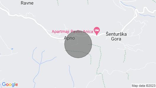 Elipa House, Apno - Krvavec Mountain Map