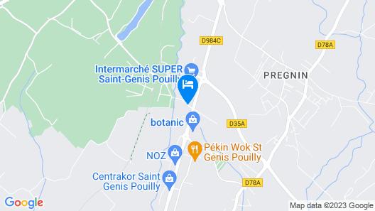 Kyriad Geneve - Saint-Genis-Pouilly Map