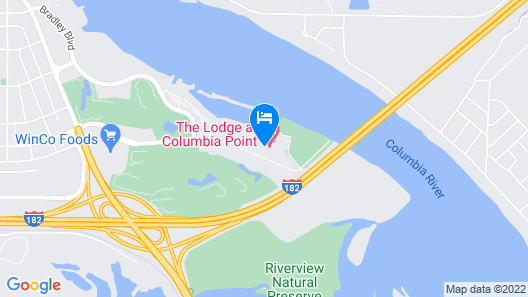 The Lodge at Columbia Point Map