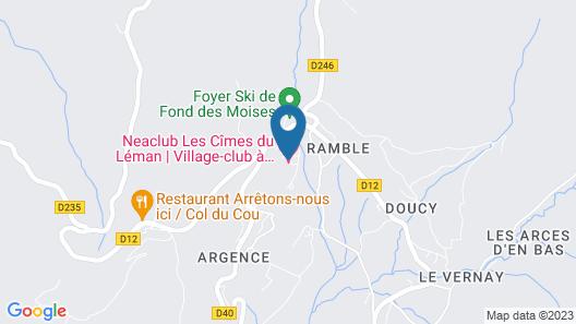 Neaclub - Les Cimes du Leman Map