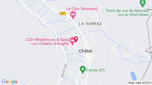 CGH Résidences & Spas Les Chalets d'Angèle Map