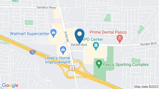 Hampton Inn & Suites Pasco/Tri-Cities Map