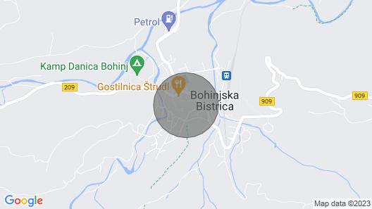 1 Bedroom Accommodation in Bohinjska Bistrica Map