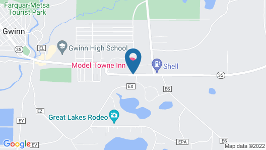 Model Towne Inn Map
