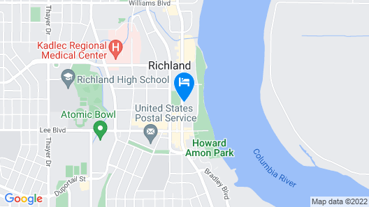 Holiday Inn Richland on the River Map
