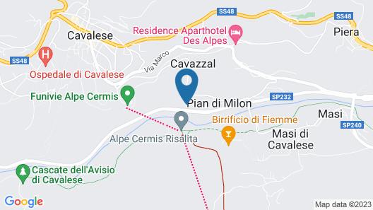 Albergo Garnì Antico Mas Del Medico Map