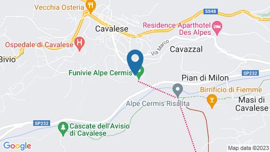 Chalet Genzianella n.17, Alpe Cermis, Cavalese (TN)  Holiday home 2 BestStayz.1 Map