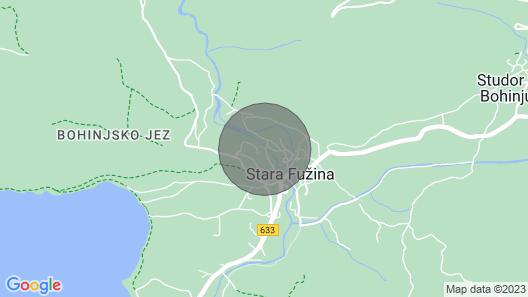Mostnica Cottage - Holiday Home Rental in Stara Fuzina Lake Bohinj, Sleeps 12 Map