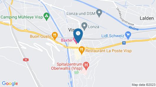 Hotel Restaurant Elite Visp Map