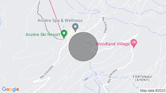Chalet Les Fétiches - Anzère - Valais - Switzerland (Swiss Alps) Map