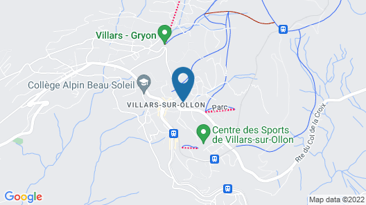 Eurotel Victoria Villars Map