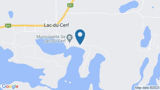 Havre du Cerf, Grande Plage Privée, Magnifique vue sur le lac Map
