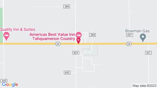 Americas Best Value Inn Tahquamenon Country Map