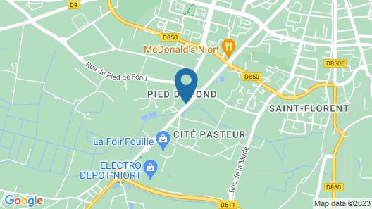 ibis Niort Marais Poitevin Map