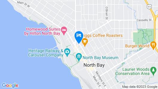Knights Inn North Bay Map