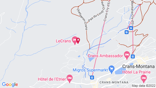 LeCrans Hotel & Spa Map