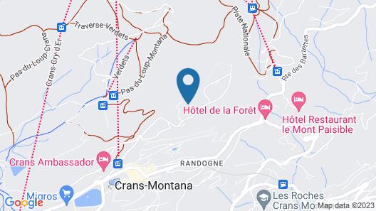 Chalet du Chef Ski et Golf Map