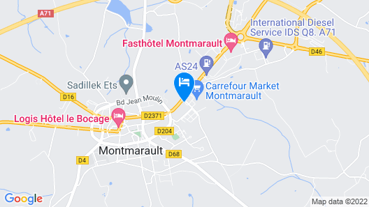 Hostellerie du Centrotel et Spa Map