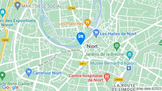 Hôtel du Moulin, Niort Map