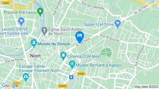 Brit Hotel du Parc Map