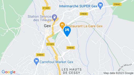 Séjours & Affaires Les Rives du Leman - GEX Map