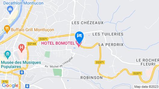 Hôtel Bomotel Map