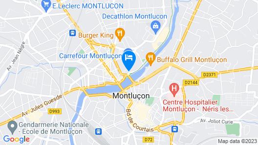 Comfort Hotel Montlucon Map