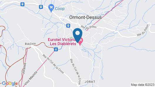 Eurotel Victoria Les Diablerets Map