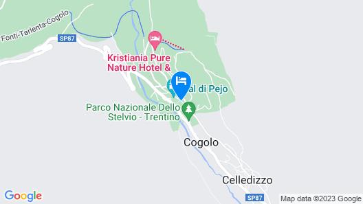 Cevedale Living Romance Hotel Map