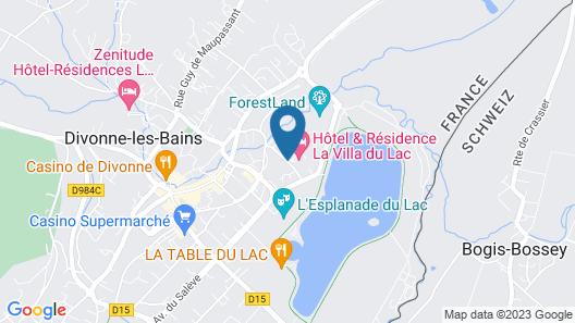 Hôtel Résidence & Spa Vacances Bleues Villa du Lac Map