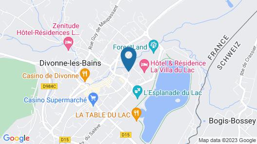 Zenitude Hôtel-Résidences Divonne Confort Map