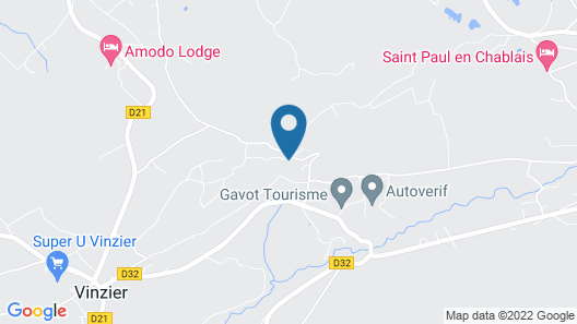 L'ourserie B&B Map