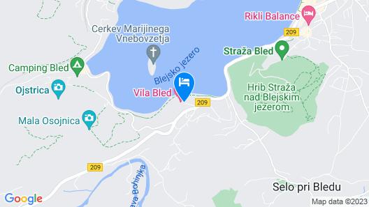Hotel Vila Bled Map