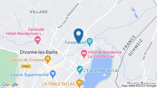 Zenitude Hôtel-Résidences La Versoix Map