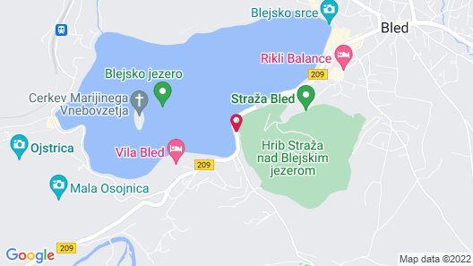 Vila Istra Map