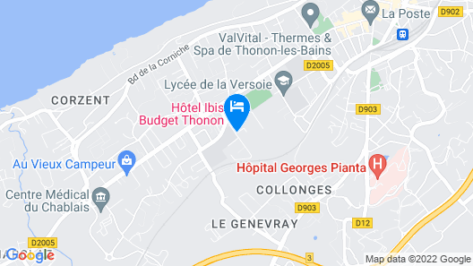 ibis Styles Thonon Les Bains Hotel Map