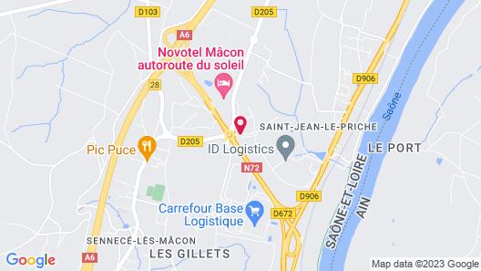 Hôtel Charme en Mâconnais Map