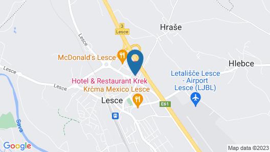 Hotel Krek *** SUPERIOR Map