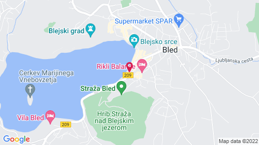 Grand Hotel Toplice - Sava Hotels & Resorts Map