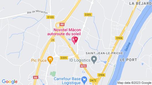 Novotel Macon Nord Map